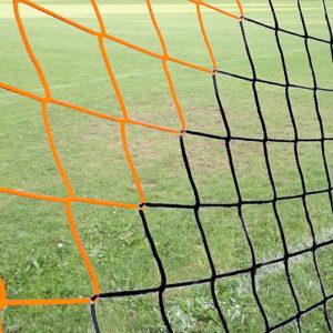 voetbaldoelnet ek oranje/zwart 4 mm