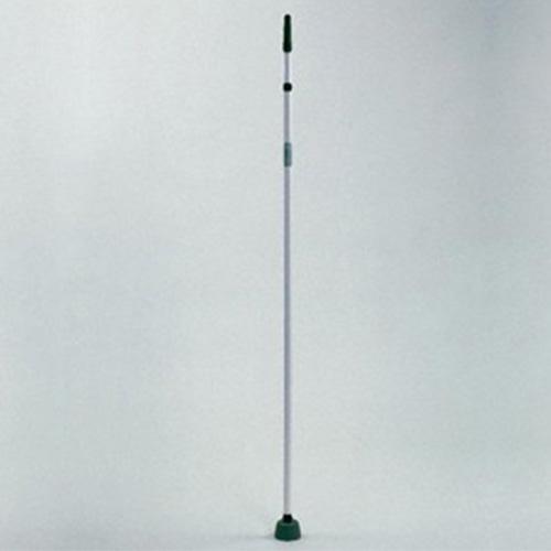 Aluminium ondersteuningsstangen voor het afschermnet met een brede voet. In hoogte verstelbaar van 2 tot 3 meter. 3 stuks nodig bij een net van 20 meter.Per stuk
