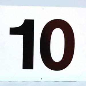 Baan nummerborden 10 - 20