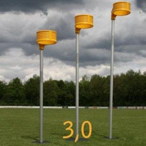 Aluminium korfbalpaal wedstrijd 3.00 meter. prijs per stuk