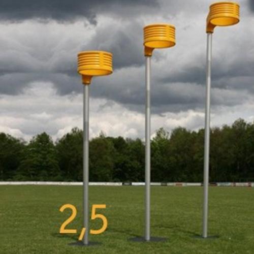 Aluminium korfbalpaal wedstrijd 2,50 meter. prijs per stuk.