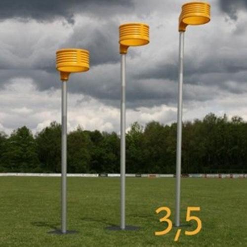 Aluminium korfbalpaal