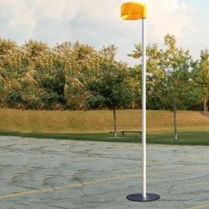 Aluminium insteek korfbalpaal voor korfbal