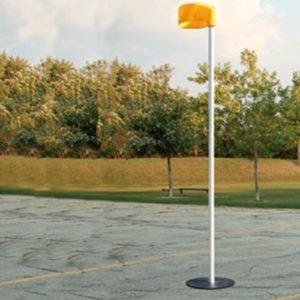 Aluminium korfbalpaal kunstgras/zaal 3,50 meter.