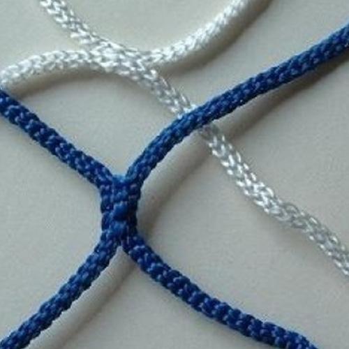 Voetbaldoelnet barca blauw/wit
