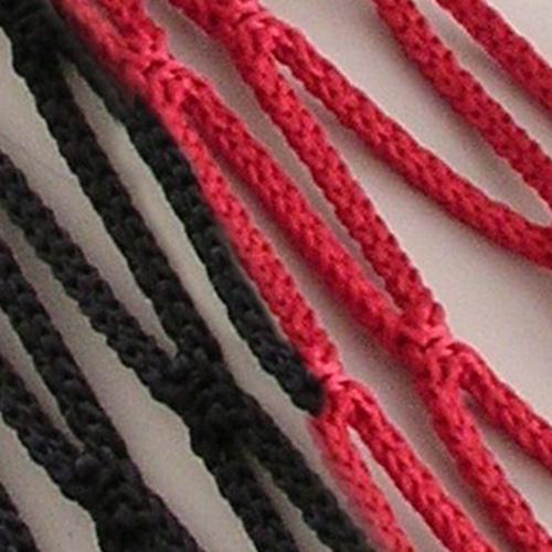 Voetbaldoelnet Barca rood/zwart