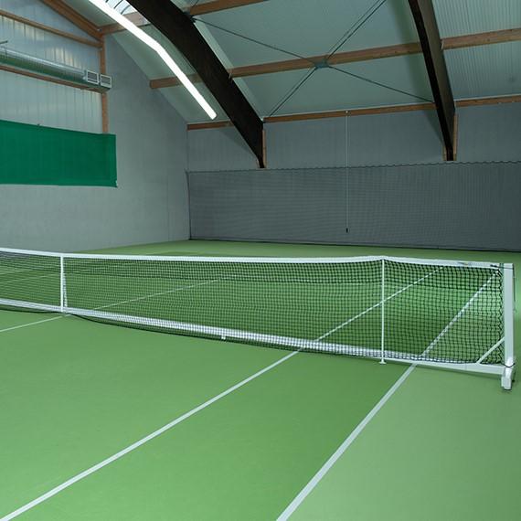 compleet vrijstaande tennisnetinstallatie