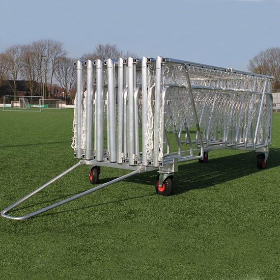 transportwagen voor inklapbare mini doelen