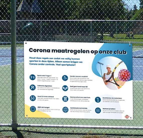Corona signalisatie voor sportclubs